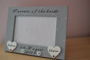 """Personalised photo frame - Parents of the bride wedding gift 6x4"""""""