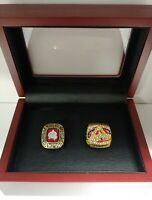 Colorado Avalanche - 2 Stanley Cup Hockey Custom Ring Set WITH Wooden Box