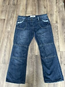 TU Wide Leg Boyfriend Fit Jeans - Size 14 Short