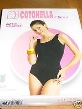 body donna COTONELLA cotone bielastico spalla larga Taglia 3 colore blu chiaro