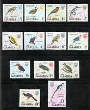 x304 - GAMBIA 1966 BIRDS Set of 13 Stamps. Mint MNH