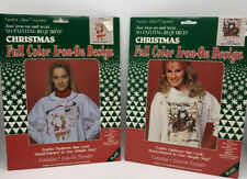 Lot of 2 Vintage Christmas Full Color Iron-On Transfers 1991