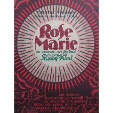 FRIML Rudolf Rose Marie Piano 1926 partition sheet music score
