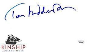 Tom Hiddleston signed Cut JSA COA Loki Marvel Rare Auto Avengers Z729