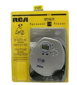 RCA RP2467 180 EX ESP Xtreme - Personal Portable CD Player - Silver Refurbished