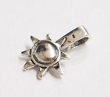 20 Medium Antique Silver Sun & Moon Glue Bails 4 Cameos, Cabs, Glass, Tiles Caps