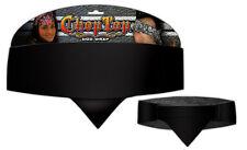 Classic Solid Black Chop Top Biker Bandanna Head Wrap Sweatband Headband Adjust
