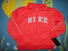 Nike Jacket Boys Baby 24 Mos Orange Zip Front Polyester New
