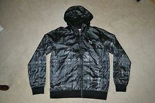 Puma Men's Hoody Windbreaker Zipped  Jacket Color: Black Men's Large New w/Tag!