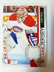 Carey Price Game Jersey 2014-15 Upper Deck