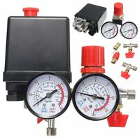 180PSI Compresseur d'air Pressostat Vanne Régulation Manifold Régulateur Jauges