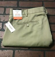 Van Heusen Flat Front Slim Fit Traveler Khaki Dress Pants Men's Size 42 x 30