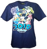Disney Florida 2019 Celebration Mickey Goofy Minnie Donald Adult T-Shirt M