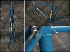 vintage steel bike track frame 1950s 53x53  cm italian