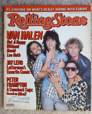 Van Halen Peter Frampton Rolling Stone Vintage Music Magazine #477 July 1986