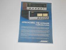 Bose 1801 Amplificateur, 4401 Préamp 1 Page, 1973, Quad, Articles et Infocus