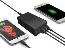 74W Type-C Power Adapter with4-Port 60W USB Charger for Samsung Galaxy S8,iPhone