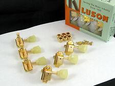 Kluson SD90SLG Tuners 3X3 Single Ring Keystone Button Single Line 15:1 Gold