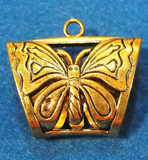 5Pcs. Huge Tibetan Antique Gold BUTTERFLY Scarf BAILS Connectors SBA73