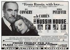 Original magazine advert(1990) THE RUSSIA HOUSE  Sean Connery  Michelle Pfeiffer
