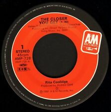 "RITA COOLIDGE the closer you get/take it home AMP-728 japanese 1981 7"" WS EX/"