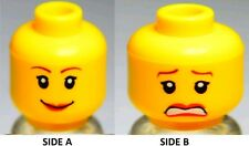 NEW LEGO Female MINIFIG HEAD Girl w/Red Lip Smile -Police/Agents/Pirate Princess