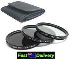 52mm Neutral Density Filter Kit For D40 D50 D60 D70 D80 D90 D100 D200 D300 DSLR