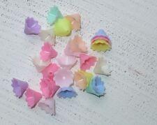 100 bunte Acryl Perlen Blumen ca 14,5 x 10 mm Engel basteln A1123