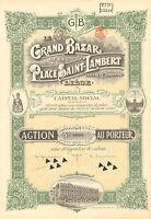 Belgica, Grand Bazar de la Place Saint-Lambert SA Liege, accion, 1924