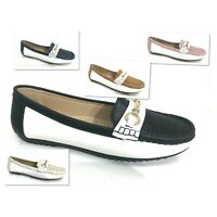 WOMENS LADIES SLIP ON LOAFERS CHUNKY SOLE FLATS BAR PLIMSOLLS PUMPS SHOES SIZE