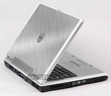 BRUSHED ALUMINUM Vinyl Lid Skin Cover fits Dell Inspiron 1501 E1505 6400 Laptop