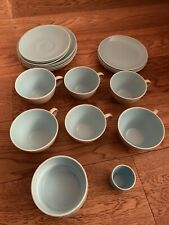 Poole Pottery Twintone Dove Grey And Sky Blue Job Lot 1960's