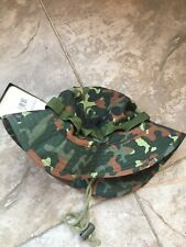 Gi Boonie Jungle Combat Hat German Army 100% Cotton Ripstop Flecktarn Camo Small