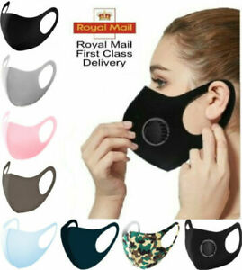 Face Masks Virus Dust Protection Washable Protective Reusable Face Covering