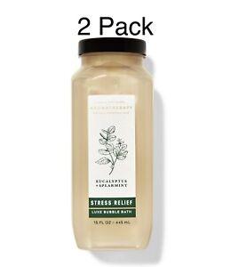 Bath & Body Works Aromatherapy Eucalyptus + Spearmint Luxe Bubble Bath-2 Pack