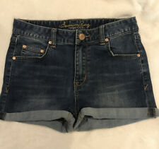 New American Rag cie Jr. Blue Jean Cuffed Shorts sz 5 Front & Back Pockets