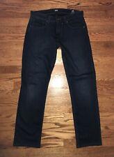 PAIGE FEDERAL JEANS DARK BLUE WASH STRETCH DENIM MENS STRAIGHT LEG 29 X 29