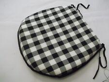 Gingham Noir forme d fermeture éclair Coussin de siège convient à cuisine /