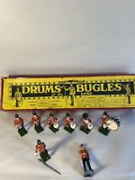 Britains British Army Drums & Bugles of the Line  All Lead Figures No30 8 Figure