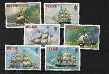 BELIZE SG671/6, 1981 SAILING SHIPS MNH, CAT £42