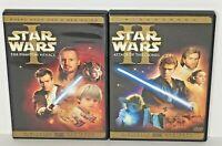 Star Wars Episode 1 & 2, The Phantom Menace & Attack Of The Clones - DVD EUC