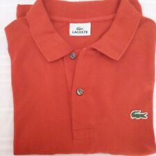 POLO LACOSTE couleur rouille - Taille 6 - neuf - manches courtes
