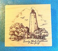 PSX Sandy Hook Lighthouse New Jersey K-2851 ~ NEW! XXRARE 1999 Rubber Stamp VHTF