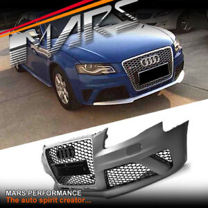 RS4 Style Front Bumper Bar & Grill for AUDI A4 S4 B8 09-11 Sedan Avant bodykit