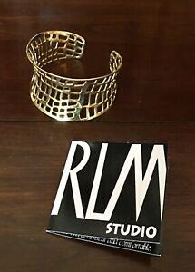 "Robert Lee Morris (RLM Studios) Brass ""Cut Out"" Cuff Bracelet"