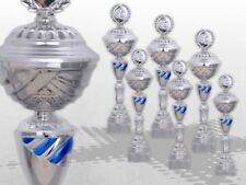 6er Pokalserie KANSAS GROSSE POKALE XXL Pokale mit Gravur günstig kaufen BLAU