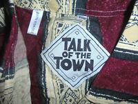 vintage TALK IN TOWN Hemd crazy pattern 90er gemustert 90`s shirt Viskose L