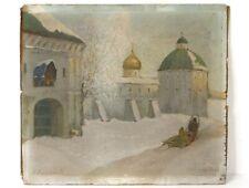 HSP paysage neige russe Zvenigorod Boris Bogoljubow cathédrale Vierge XXè