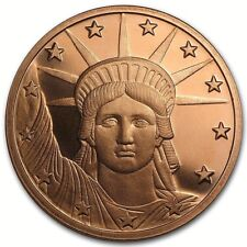 ONE OUNCE COPPER ROUND PROOF LIBERTY HEAD