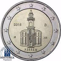 2 Euro Paulskirche Bundesland Hessen Deutschland 2015 Stempelglanz Mzz G